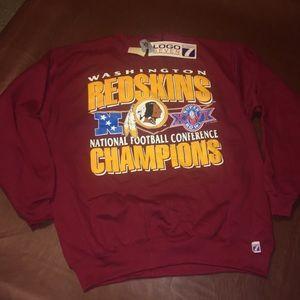 VTG 1991 Redskins NFC Champions Sweatshirt NEW 90s
